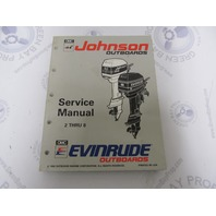 "508281 Johnson Evinrude Outboard Service Manual ""ET"" 2-8 HP 1993"