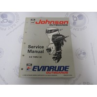 "508282 Johnson Evinrude Outboard Service Manual ""ET"" 9.9-30 HP 1993"