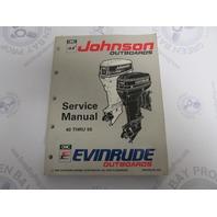 "508283 Evinrude Johnson Outboard Service Manual ""ET""40-55 HP 1993"
