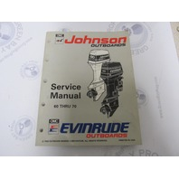 "508284 Johnson Evinrude Outboard Service Manual ""ET ""60-70 HP 1993"