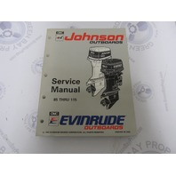 "508285 Johnson Evinrude Outboard Service Manual ""ET"" 85-115 HP 1993"