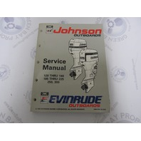 "508287 Johnson Evinrude Outboard Service Manual ""ET"" 120-300 HP 1993"