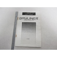 Bayliner Capri I/O Boat Owner's Manual 59076