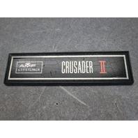 Vintage 1974 AMF Crestliner Crusader II Boat Emblem Nameplate Logo