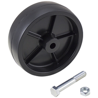 "6806 22440 Dutton-Lainson 6"" Trailer Jack Replacement Wheel, Black Poly"