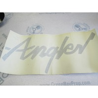 Lund Boat Silver Angler Vinyl Decal Name Logo 16 in