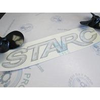 Starcraft Starc Boat Name Vinyl Decal Black Grey White