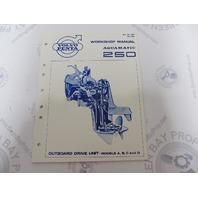 7722840 2284 Volvo Penta Aquamatic Service Workshop Manual 250 Outboard Drive