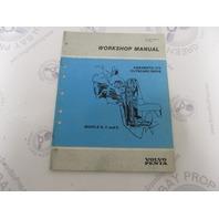 7724371-5 Volvo Penta Aquamatic Service Workshop Manual 270 Outboard Drive