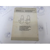 7731738-1 Volvo Penta Extended Outboard Drive Unit Installation Instructions