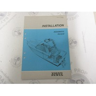 7732702-1 Volvo Penta Installation Manual Aquamatic General 1989