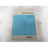 7732703-9 Volvo Penta Installation Manual Aquamatic Transom Shield 1989