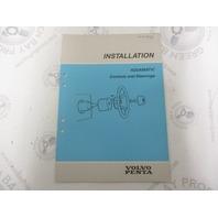 7732704-7 Volvo Penta Installation Manual Aquamatic Controls & Steering 1989