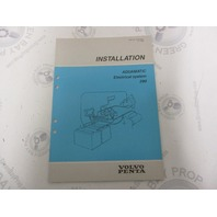7732706-2 Volvo Penta Installation Manual Aquamatic 290 Electrical System 1989