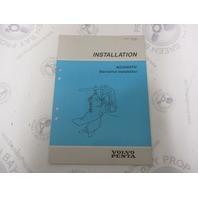 7732709-6 Volvo Penta Installation Manual Aquamatic Sterndrive 1989