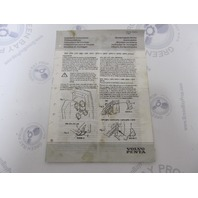 7735244-1 Volvo Penta Stern Drive Installation Instructions Manual