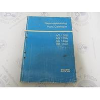 7742840-7 Volvo Penta Stern Drive Parts Catalog AQ120B 125A 140A BB140A