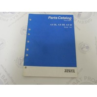 "7797016-8 Volvo Penta Stern Drive Parts Catalog ""HU"" 4.3 GL GS Gi"