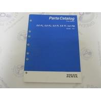 "7797017-6 Volvo Penta Stern Drive Parts Catalog ""HU"" 5.0 & 5.8"