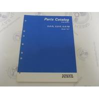 """7797240-4 Volvo Penta Stern Drive Parts Catalog """"NC"""" 5.8 FL Fi FSi"""