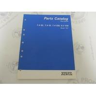 "7797250-5 Volvo Penta Stern Drive Parts Catalog ""NC"" 7.4 & 8.2 GSi"