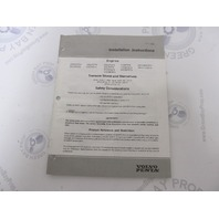 7797282 Volvo Penta Engine Stern Drive and Transom Shield Installation Instructions