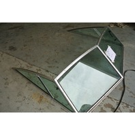 Boat 2 Piece Front Windshield 76.5 Wide x 64 Long 20 ft Sea Ray