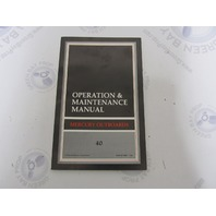 90-812810890 Mercury Outboard Operation & Maintenance Manual 40 HP