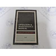 90-814367900 Mercury Outboard Operation & Maintenance Manual 3.0 HP