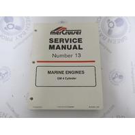 90-816462 695 MerCruiser Service Manual Number 13 GM 4 Cylinder Marine Engines