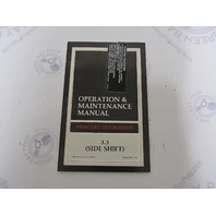 90-823239930 Mercury Outboard Operation & Maintenance Manual 3.3 HP Side Shift