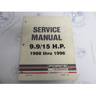 90-823264 395 Mercury Force Outboard Service Manual 9.9/15 HP 1988-96