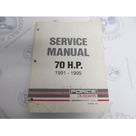 90-823266 Mercury Force Outboard Service Manual 70 HP 1991-1995