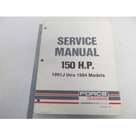 90-823268 Mercury Force Outboard Service Manual 150 HP 1991J-1994
