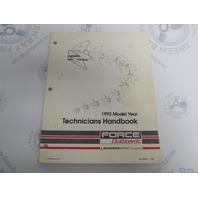 90-823871 Mercury Force Outboard Technicians Handbook Manual 1993