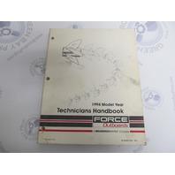 90-823871940 Mercury Force Outboard Technicians Handbook Manual 1994