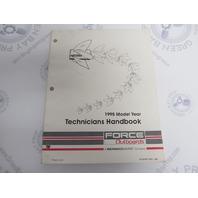90-823871950 Mercury Force Outboard Technicians Handbook Manual 1995