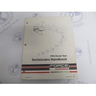 90-823871960 Mercury Force Outboard Technicians Handbook Manual 1996