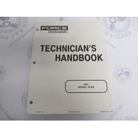 90-823871970 Mercury Force Outboard Technicians Handbook Manual 1997