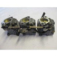 3301-824902T16 Set of 3 Carburetors for Mercury Mariner 40 50 HP Outboards 3301-824902T17