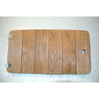 Teak Wood Hatch Panel 23 x 12 inches Rounded Corners