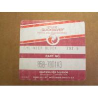 858-7801A3  Mercury V-200/V-225 6Cyl. Outboard Cylinder Block Crankcase NLA