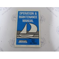 90-11085-1 Mercury Outboard Operation & Maintenance Manual 9.8 HP 180cc Sail Power