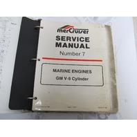90-12410 1185 MerCruiser Service Manual Number 7 GM V-6 Cylinder Marine Engines
