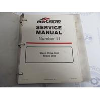 90-17431 Mercury Mercruiser #11 Bravo One Stern Drive Service Manual
