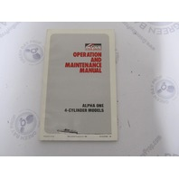 90-42227890 Mercruiser Alpha One 4-Cyl Operation & Maintenance Manual