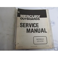 90-43183 Mercury Outboard Service Manual 3.5-3.6 HP