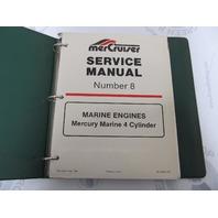 90-44553 Mercury Mercruiser #8 Marine 4 Cylinder Engine Service Manual