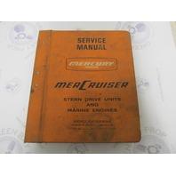 90-60673 Mercury Mercruiser Stern Drive & Marine Engine Service Manual
