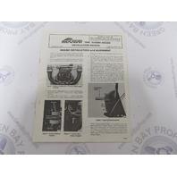 90-79919 Mercruiser 898 Stern Drive Marine Engine Installation Manual